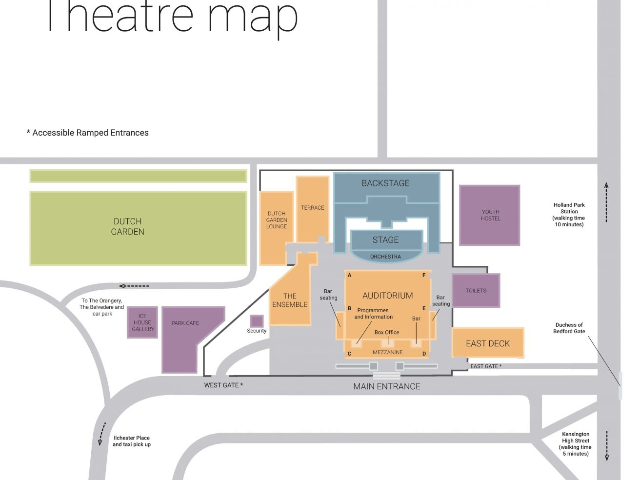 Map of Opera Holland Park