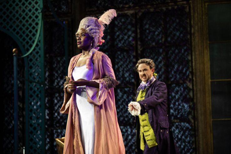 Nardus Williams as Countess Almaviva and Julien Van Mellaerts as Count Almaviva in The Marriage of Figaro, 2021 © Ali Wright