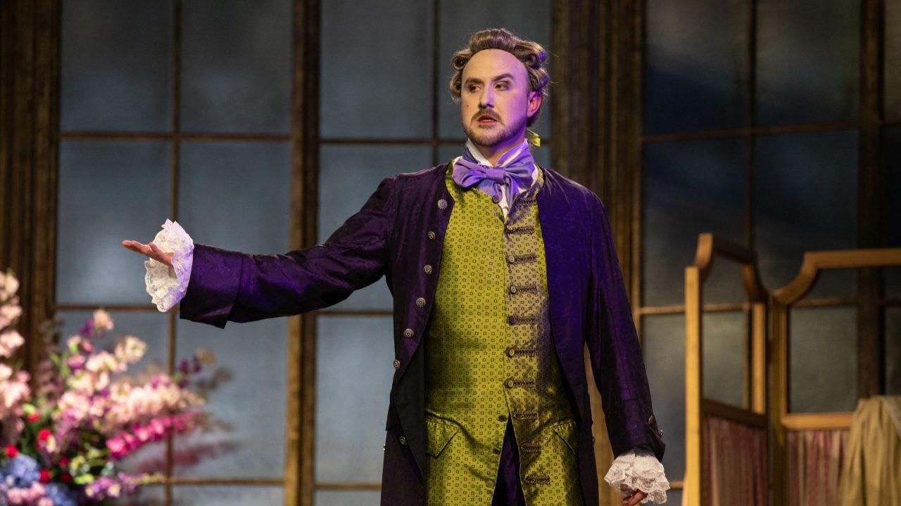 Julien Van Mellaerts as Count Almaviva in The Marriage of Figaro, 2021 © Ali Wright