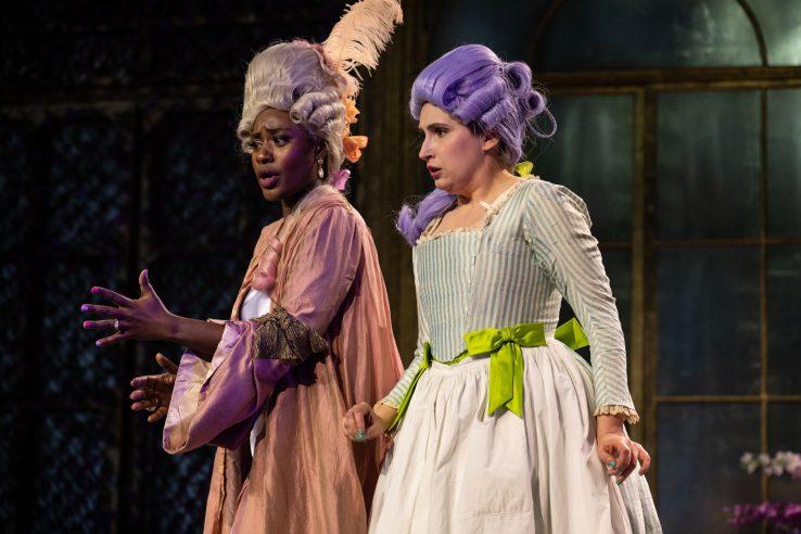 Nardus Williams as Countess Almaviva and Elizabeth Karani as Susanna in the Marriage of Figaro, 2021 © Ali Wright