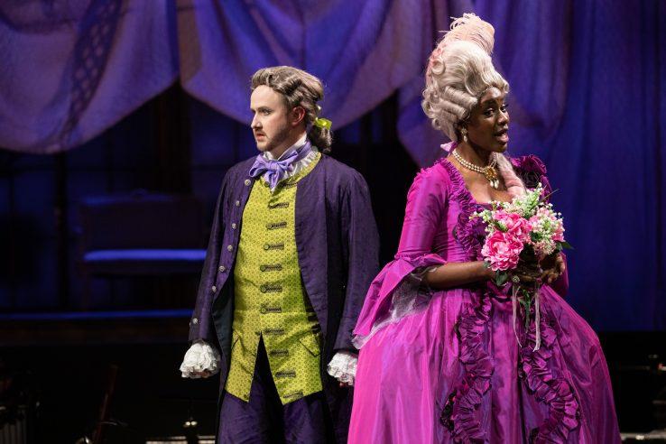 Julien Van Mellaerts as Count Almaviva and Nardus Williams as Countess Almaviva in The Marriage of Figaro, 2021 © Ali Wright