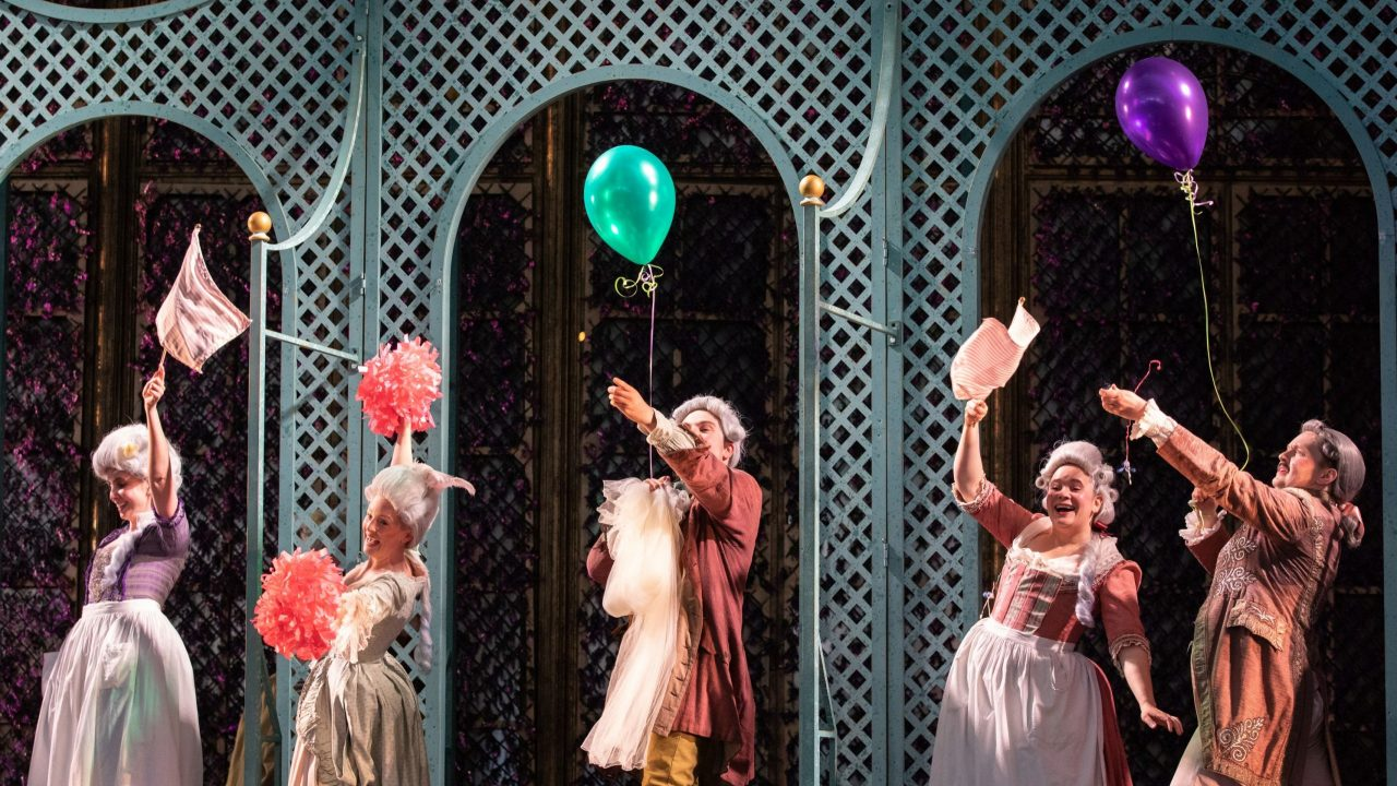 Members of the Opera Holland Park Chorus in The Marriage of Figaro, 2021 © Ali Wright