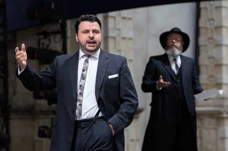 Matteo Lippi as Fritz Kobus and Paul Carey Jones as David in L'amico Fritz, 2021 © Ali Wright