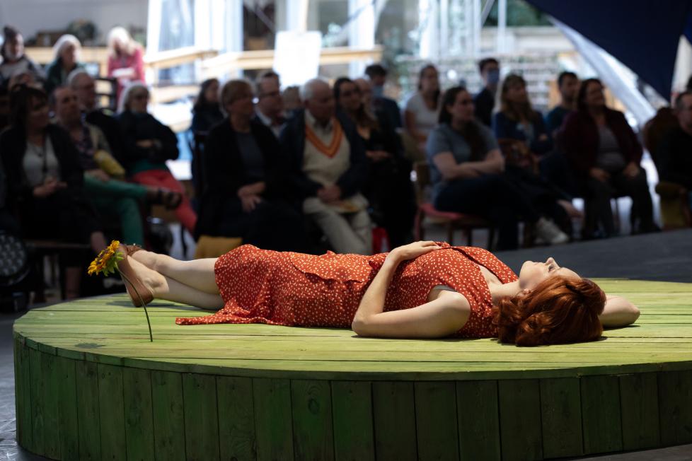 Jennifer France as The Vixen in The Cunning Little Vixen, 2021 © Ali Wright