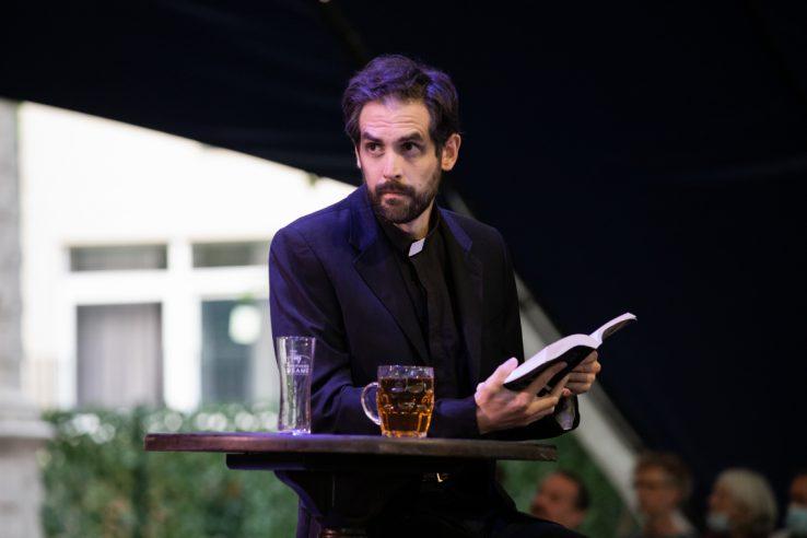 John Savourni as The Priest in The Cunning Little Vixen, 2021 © Ali Wright