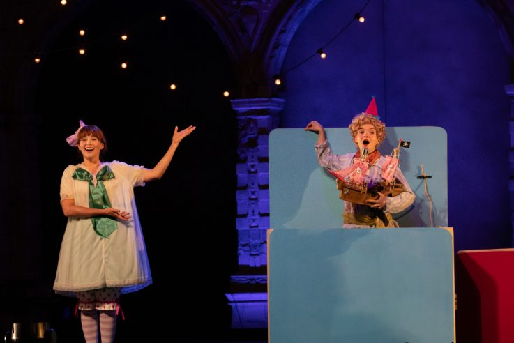 Daisy Brown as Mabel and Alys Roberts as Edith in The Pirates of Penzance at Opera Holland Park, 2021 © Ali Wright